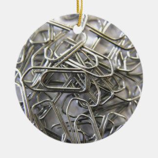 Paper clips round ceramic decoration