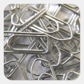 Paper clips square sticker