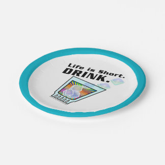 PAPER COCKTAIL NAPKINS - COCKTAIL, DRINK 7 INCH PAPER PLATE