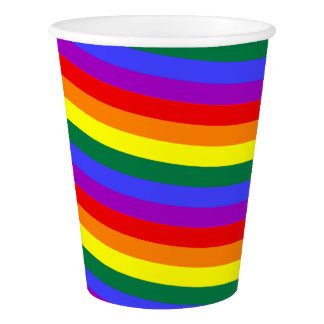 Paper cup Pride  rainbow