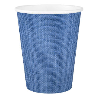 Paper Cup print with rustic blue canvas