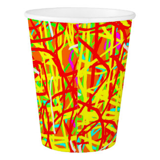 Paper Cup: Wild Abstract Paper Cup