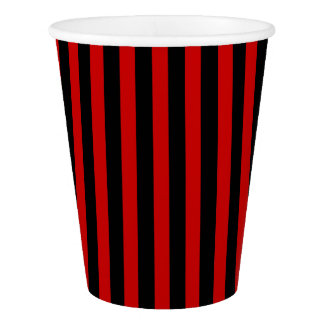 Paper Cup with black and red stripes