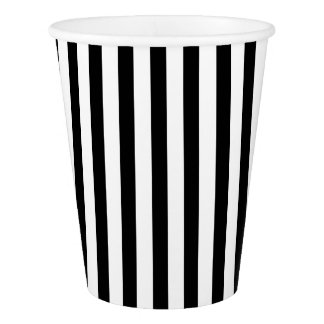 Paper Cup with black & white stripes