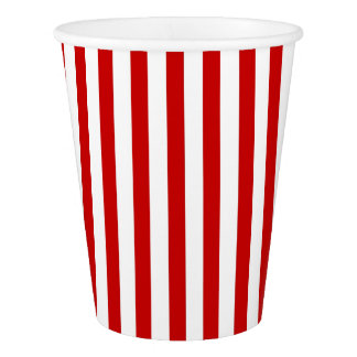 Paper Cup with white and red stripes