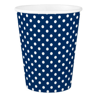 Paper Cup with white dots on blue