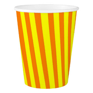 Paper Cup: Yellow and Orange Paper Cup