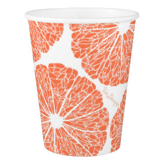 Paper Cups - Grapefruit to Suit