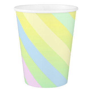 Paper Cups With Pastel Stripes