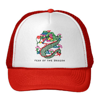 Paper Cut Year of The Dragon Gift Cap
