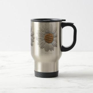 PAPER DAISY FLOWER DIGITAL REALISM SCRAPBOOKING NA COFFEE MUG