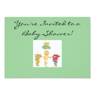Paper Doll Baby Shower Invitation