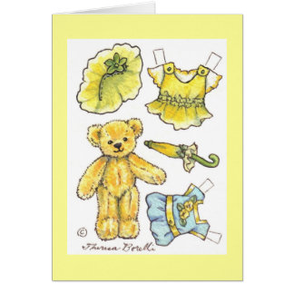 Paper Doll Birthday Card