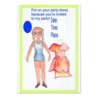 Paper Doll invitation