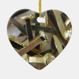 Paper fasteners office stationary ceramic heart decoration