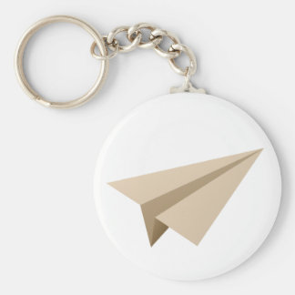 Paper flier PAPER flat Basic Round Button Key Ring