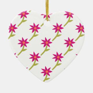 Paper Flower Pattern Christmas Ornament