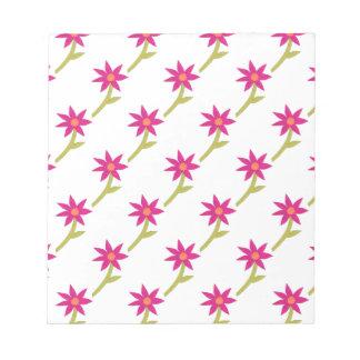 Paper Flower Pattern Notepad