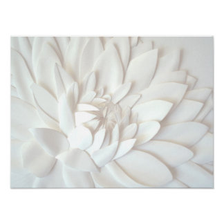 Paper flower sculpture poster
