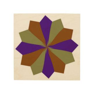 paper flower wood print
