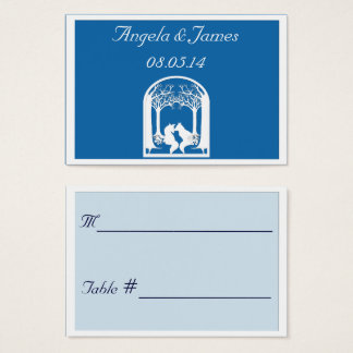 Paper Foxes in Dazzling Blue Business Card