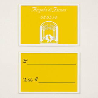 Paper Foxes in Freesia Business Card