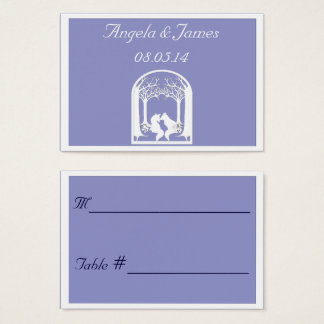 Paper Foxes in Lilac Business Card