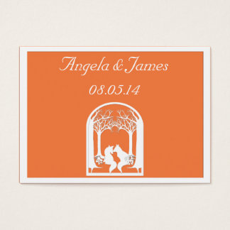 Paper Foxes in Orange Business Card