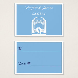 Paper Foxes in Placid Blue Business Card