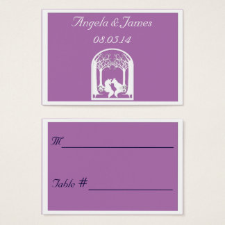 Paper Foxes in Radiant Orchid Business Card