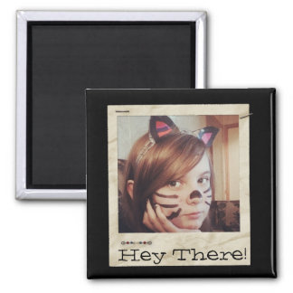 Paper Frame Old Instagram Photo add Text Magnet