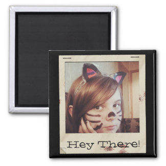 Paper Frame Old Instagram Photo add Text Square Magnet