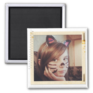 Paper Frame Old Instagram Photo Square Magnet