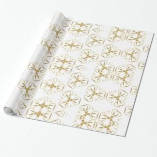 Paper frozen gift, Flowers Gold