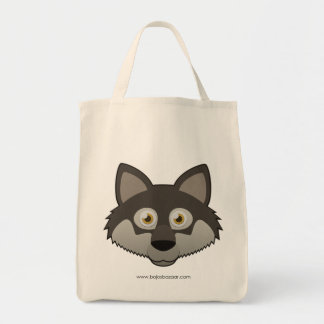 Paper Gray Wolf Tote Bags