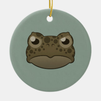 Paper Green Toad Round Ceramic Decoration