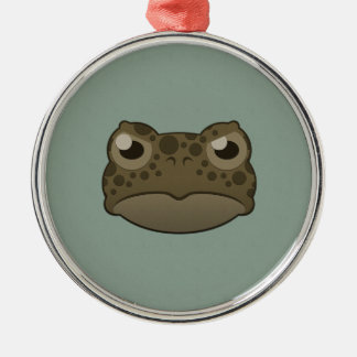 Paper Green Toad Silver-Colored Round Decoration