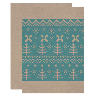 Paper greeting with Blue folk structure Card