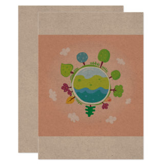 Paper greeting with Earth Card