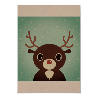 Paper greeting with Reindeer Card