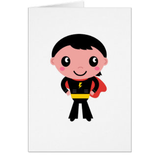 Paper greeting with Superhero boy Card