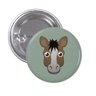 Paper Horse Pinback Button