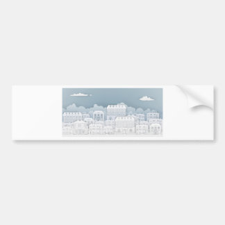 Paper Houses Row Bumper Sticker