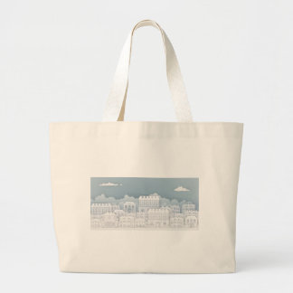 Paper Houses Row Large Tote Bag