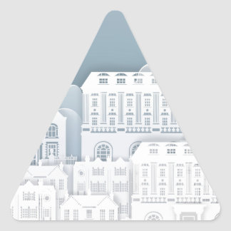 Paper Houses Row Triangle Sticker