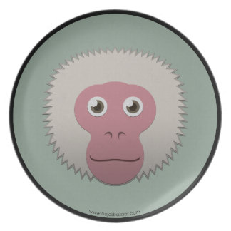 Paper Japanese Macaque Plates
