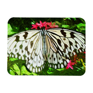 Paper Kite Butterfly Abstract Impressionism Rectangular Photo Magnet