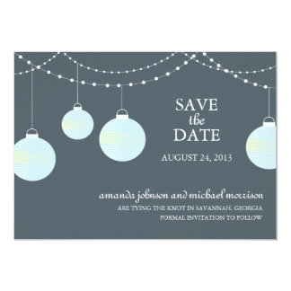 Paper Lantern Wedding Save the Date 13 Cm X 18 Cm Invitation Card