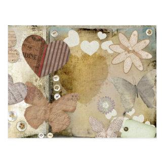 Paper love postcard