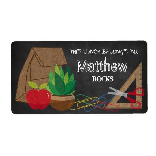 Paper Lunch Bag Apple Scissors Plant Label Shipping Label